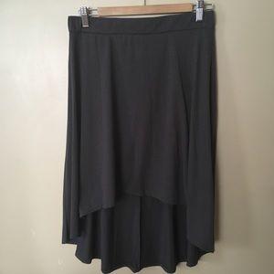 Gray Hi-Lo Skirt